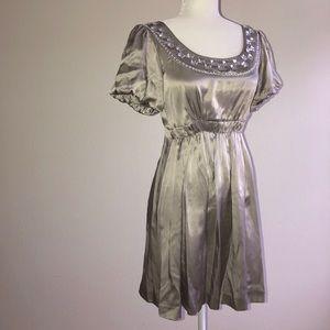 Kenzie Silver Embellished  Cocktail Dress